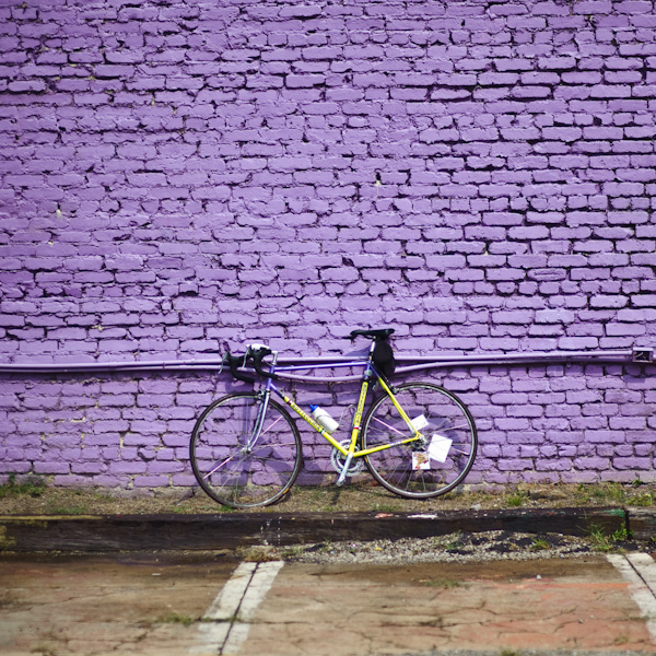 Where Georgia Road splits, this wall sits.  I love it